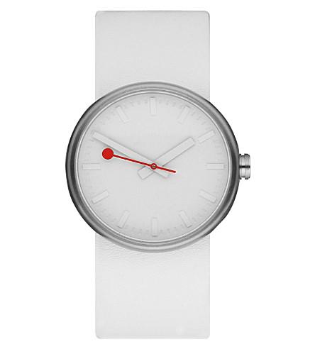 MONDAINE A6583030616SBA Giant Size stainless steel unisex watch (White