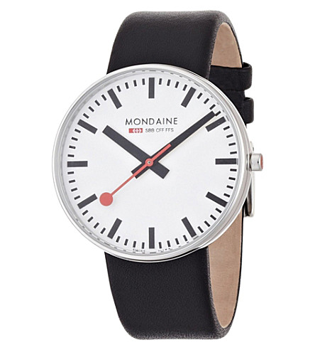 MONDAINE A6603032811SBB Evo Giant white watch (White