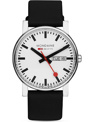 MONDAINE Monochrome stainless steel watch