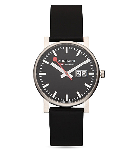 MONDAINE Evo big-date watch (Black