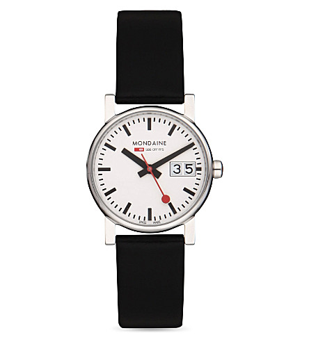 MONDAINE A6693030511SBB Unisex Evo big-date watch (White