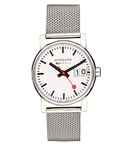 MONDAINE Unisex Evo big-date watch (White