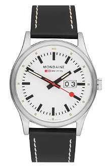MONDAINE A6693030816SBB Night vision stainless steel watch