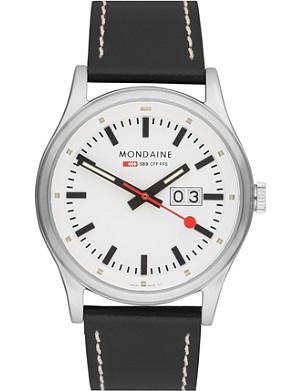 MONDAINE A6693030816SBB Night vision stainless steel watch