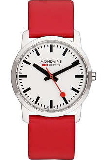 MONDAINE A6723035111SBC Unisex leather-strap Quartz watch