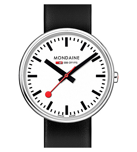 MONDAINE A7633036211sbb swiss railways stainless steel watch (White