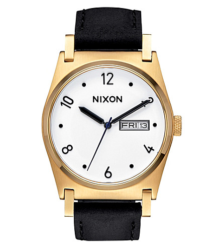 NIXON Jane Leather A955-513-00 stainless steel and leather watch (White