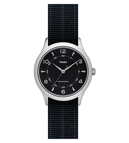 TIMEX ARCHIVE ABT125 Whitney Village stainless steel and grosgrain watch