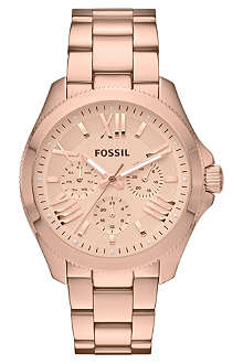 FOSSIL Rose-gold female watch AM4511