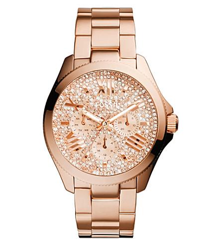 FOSSIL Cecile watch am4601 (Glitz rose gold-tone