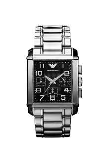 EMPORIO ARMANI AR0334 Stainless steel chronograph watch