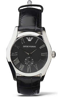 EMPORIO ARMANI AR0643 black dial watch