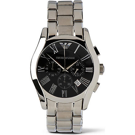 EMPORIO ARMANI AR0673 Stainless steel chronograph watch (Black