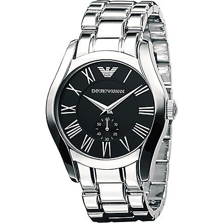 EMPORIO ARMANI AR0680 stainless steel bracelet watch (Black