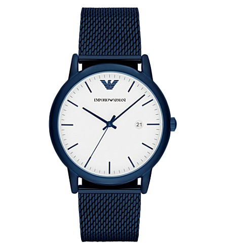 EMPORIO ARMANI AR11025 blue stainless steel watch