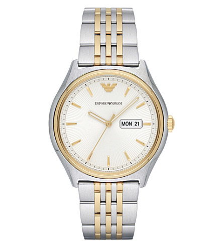 EMPORIO ARMANI AR11034 stainless steel and gold watch