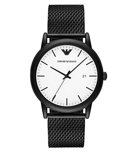 EMPORIO ARMANI AR11046 Luigi black ion-plated steel watch