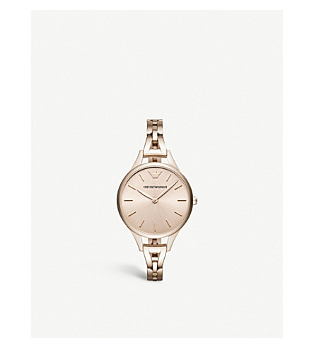 EMPORIO ARMANI AR11055 stainless steel gold-plated quartz watch