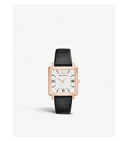 EMPORIO ARMANI AR11067 stainless steel rose gold-plated quartz watch