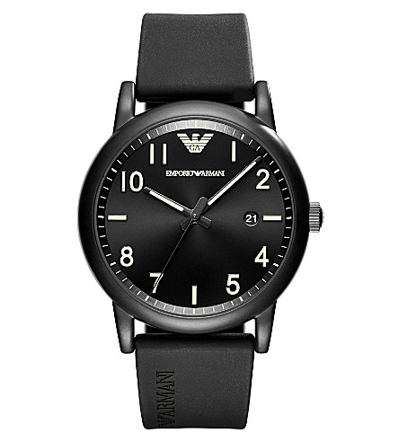 EMPORIO ARMANI AR11071 Sport stainless steel quartz rubber strap watch