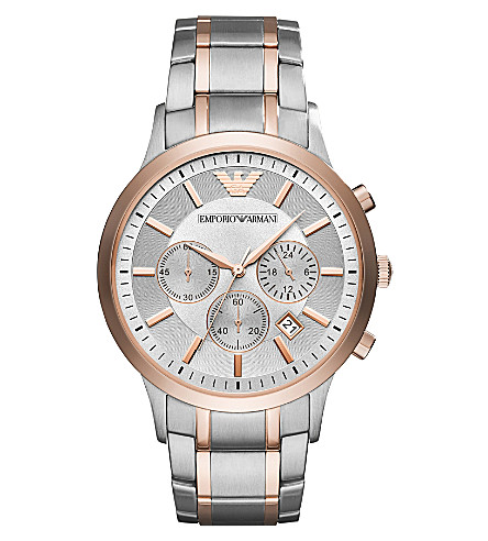 EMPORIO ARMANI AR11077 Chronograph stainless steel rose gold-tone quartz watch