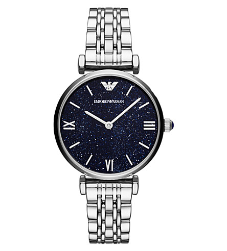 EMPORIO ARMANI AR11091 stainless steel quartz bracelet strap watch