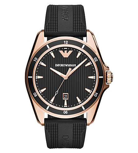 EMPORIO ARMANI AR11101 Sigma rose gold-plated stainless steel quartz watch
