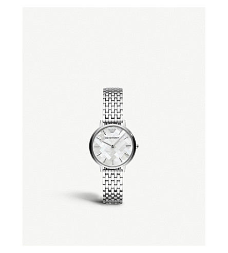 EMPORIO ARMANI AR11112 stainless steel and Mother of Pearl watch