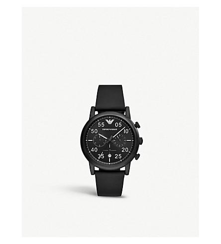 EMPORIO ARMANI AR11133 路易黑色 PVD 镀不锈钢计时腕表
