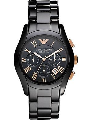 EMPORIO ARMANI AR1410 Ceramica Chronograph watch