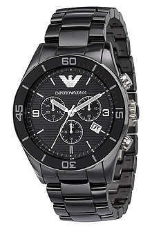 EMPORIO ARMANI AR1421 black ceramic watch