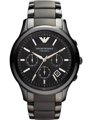 EMPORIO ARMANI Ceramic chrono bracelet watch