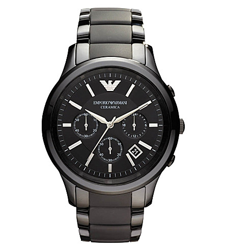 EMPORIO ARMANI AR1452 ceramic watch (Black