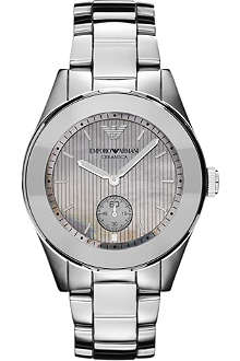 EMPORIO ARMANI Titanium and ceramic watch