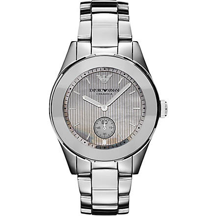EMPORIO ARMANI Titanium and ceramic watch (Silver