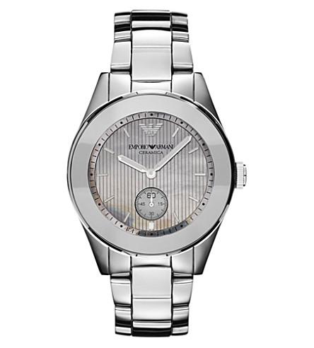 EMPORIO ARMANI Titanium and ceramic watch (Silver