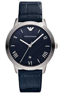 EMPORIO ARMANI AR1651 Dino stainless steel and leather watch