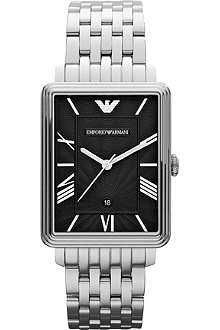 EMPORIO ARMANI AR1662 Classic stainless steel rectangle watch