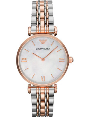 EMPORIO ARMANI Two-toned stainless steel watch
