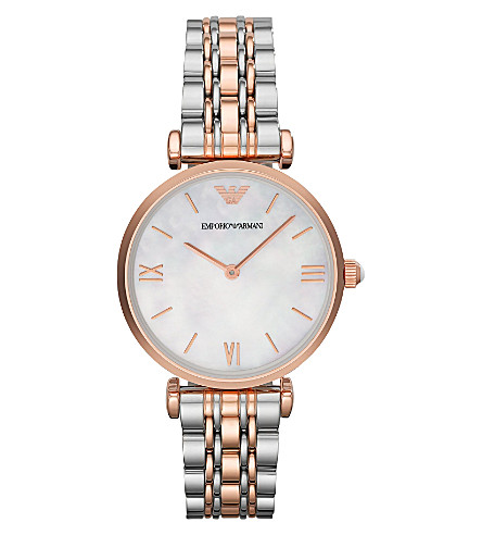 EMPORIO ARMANI AR1683 stainless steel watch (Mop