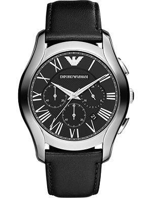 EMPORIO ARMANI AR1700 stainless steel and leather watch