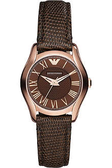 EMPORIO ARMANI AR1714 PVD rose plating and leather watch