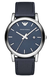 EMPORIO ARMANI AR1731 stainless steel leather watch