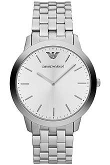 EMPORIO ARMANI White-face stainless-steel watch