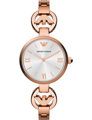 EMPORIO ARMANI AR1773 Retro rose gold-toned watch