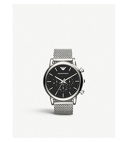 EMPORIO ARMANI ar1808 stainless steel chronograph watch