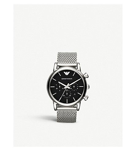 EMPORIO ARMANI AR1811 stainless steel watch (Black