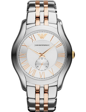 EMPORIO ARMANI SWISS AR1824 Valente stainless steel and rose gold-toned watch