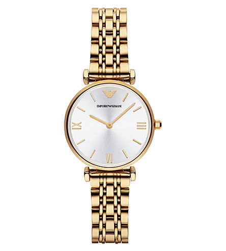 EMPORIO ARMANI AR1877 gold-plated watch (Silver