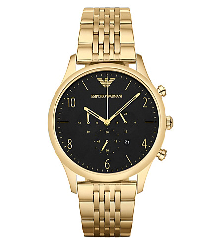 EMPORIO ARMANI AR1893 stainless steel watch (Go1+-+gold+1